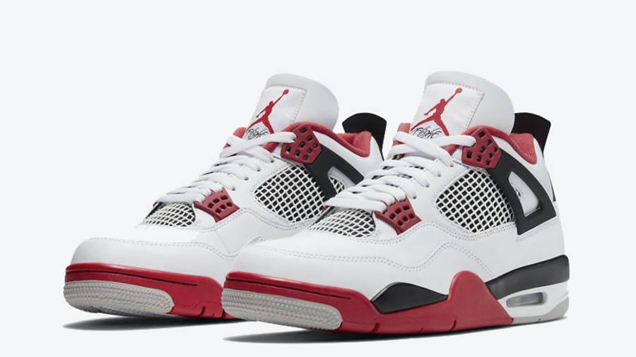 Jordan 4 Fire Red Front