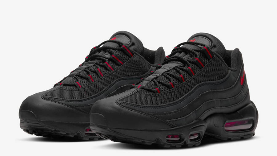 Nike Air Max 95 Black University Red Front