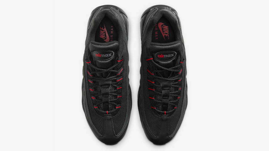 Nike Air Max 95 Black University Red Middle