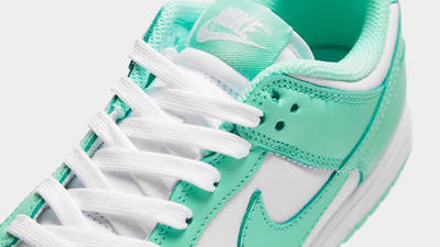 Nike Dunk Low Pastel Green Glow Closeup