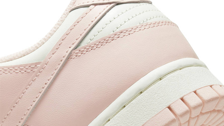 Nike Dunk Low Sail Orange Pearl Closeup