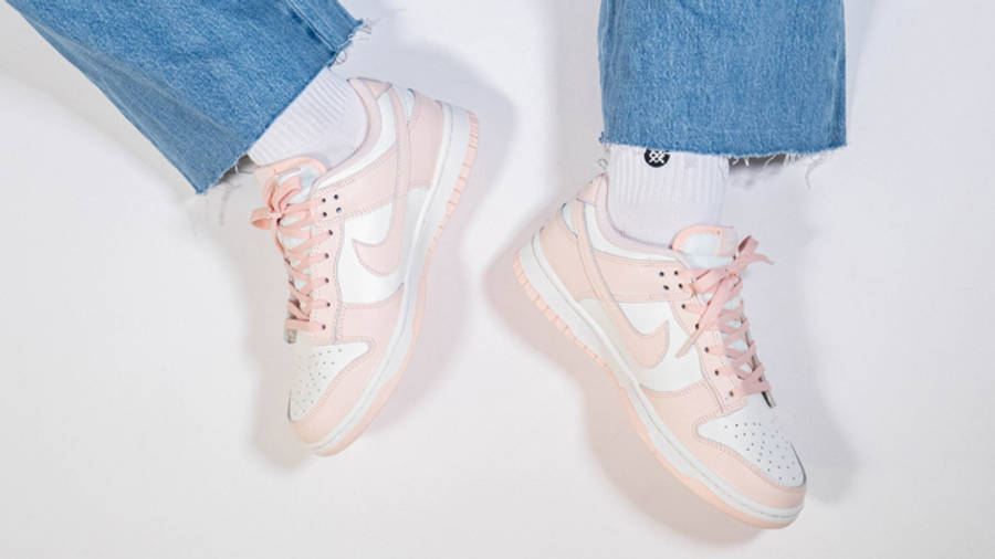Nike Dunk Low Sail Orange Pearl Womens On Foot Top