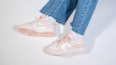 Nike Dunk Low Sail Orange Pearl Womens On Foot