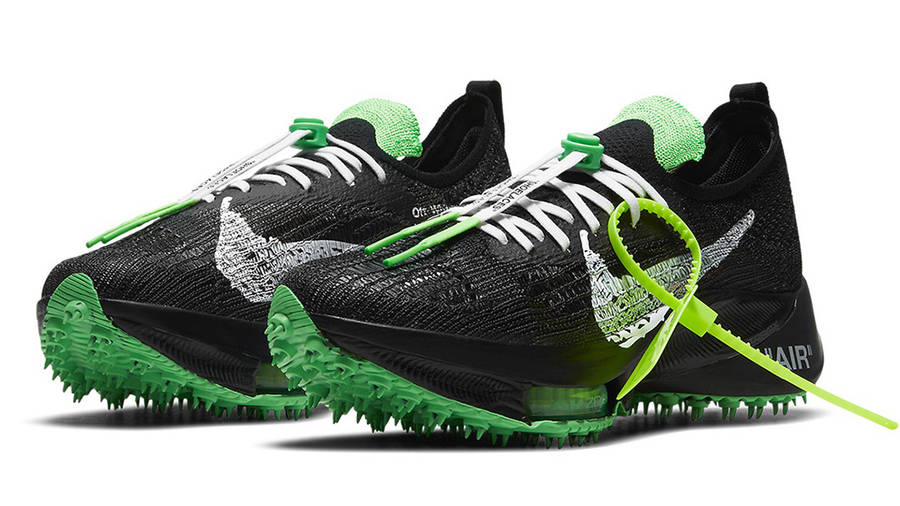 Off-White x Nike Air Zoom Tempo Next% Black Scream Green Side