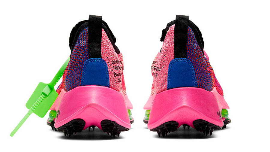 Off-White x Nike Air Zoom Tempo Next% Pink Glow Back