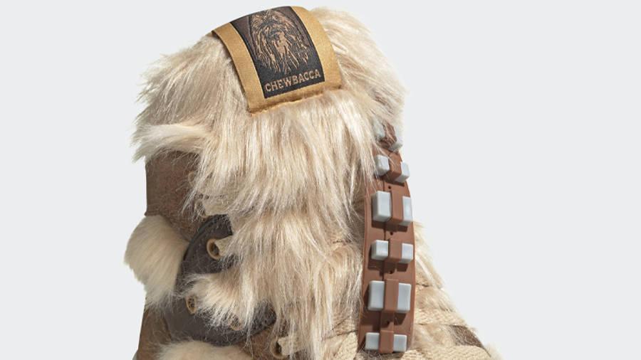 Star Wars x adidas Rivalry Hi Chewbacca Closeup