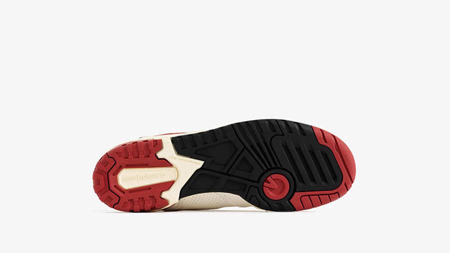 Aime Leon Dore x New Balance 550 White Red BB550AE1 sole