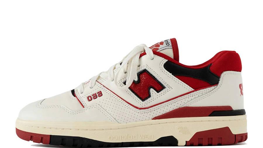 Aime Leon Dore x New Balance 550 White Red BB550AE1