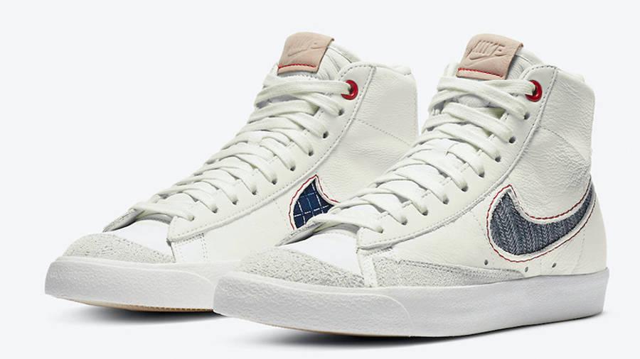 Denham Nike Blazer White CU8054-100 front
