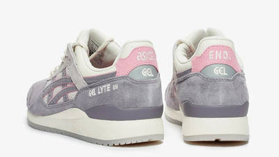 END x ASICS GEL-Lyte III Purple Grey Back