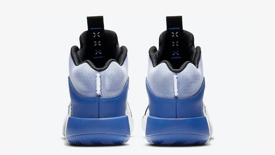 Fragment x Jordan 35 Black White Blue Back