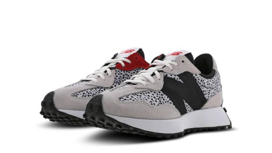 New Balance 327 Animal Print Grey Black Front