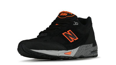New Balance 991 Made In England Black Orange Front