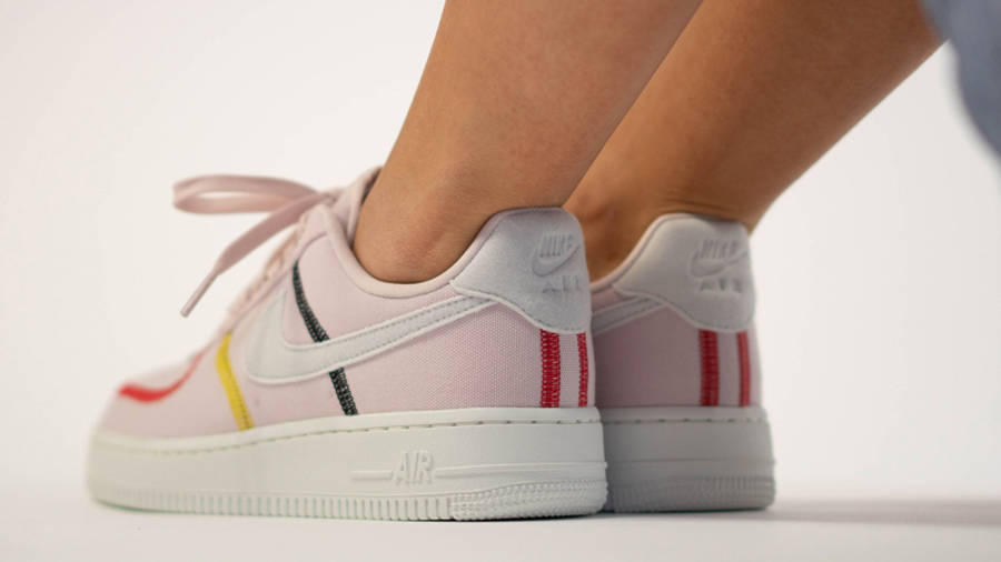 Nike Air Force 1 LX Siltstone Red Womens On Foot Back