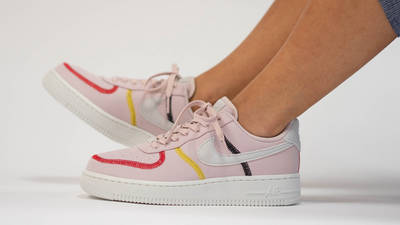 Nike Air Force 1 LX Siltstone Red Womens On Foot