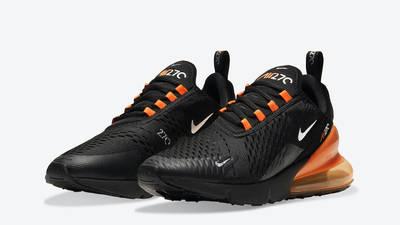 Nike Air Max 270 Halloween Black Orange Front