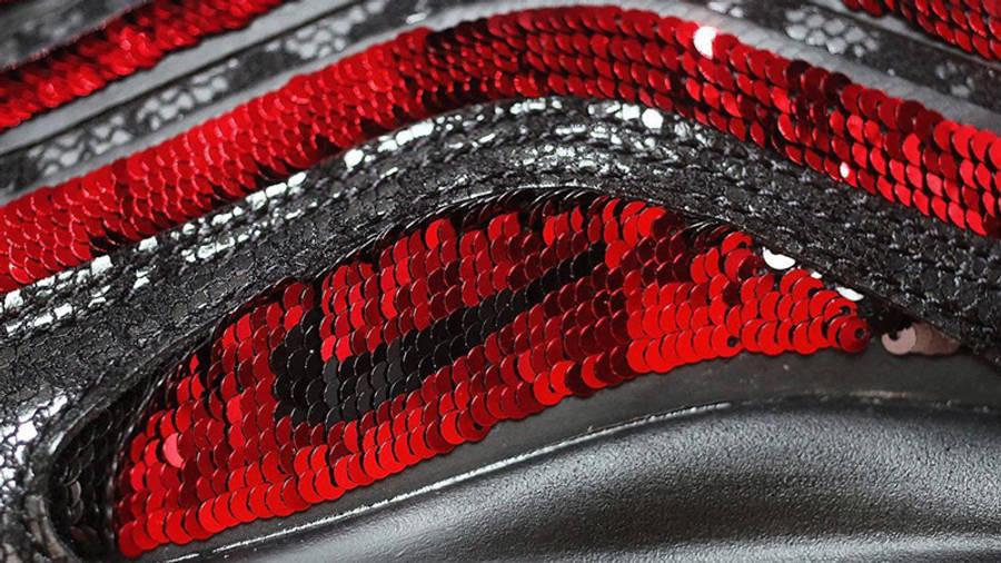 Nike Air Max 97 Black Sequin Closeup