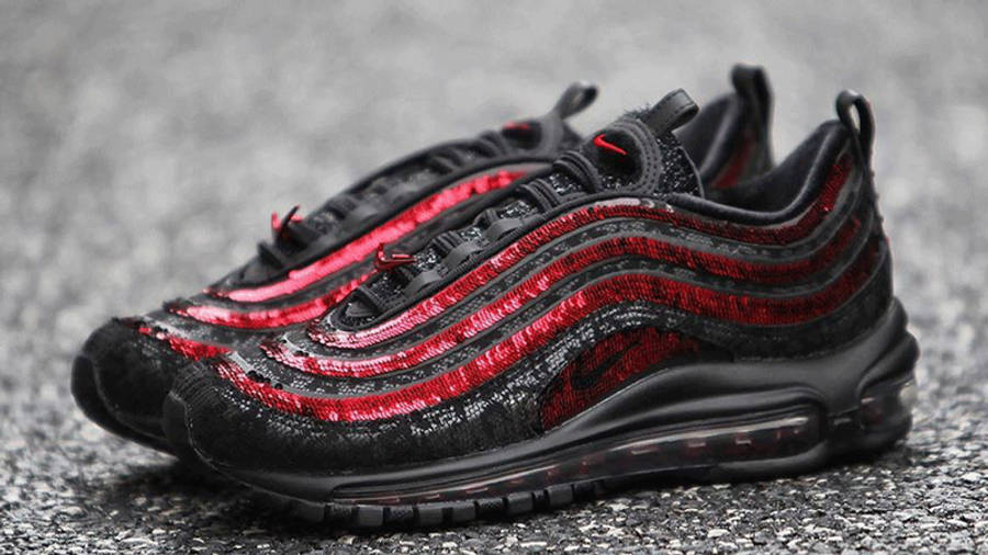 Nike Air Max 97 Black Sequin Lifestyle Front
