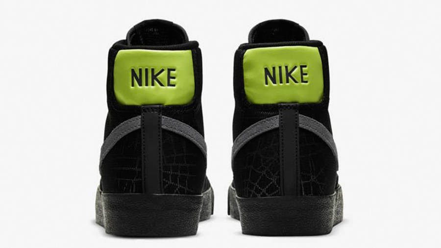 Nike Blazer Mid 77 Black Limelight DC1929-001 back