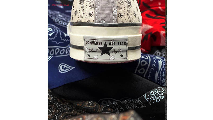 Offspring x Converse All Star Hi 70s Paisley back right side