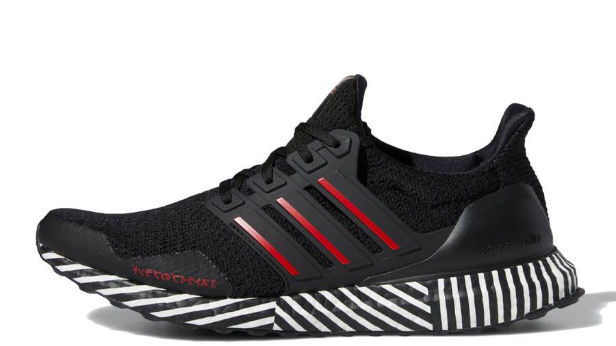 adidas Ultra Boost Core Black Scarlet