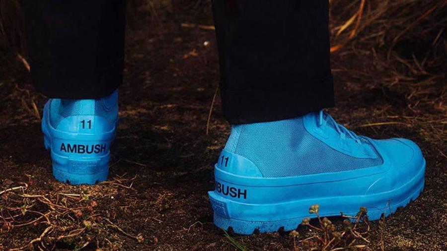 AMBUSH x Converse Chuck Rubber Boot Blue back