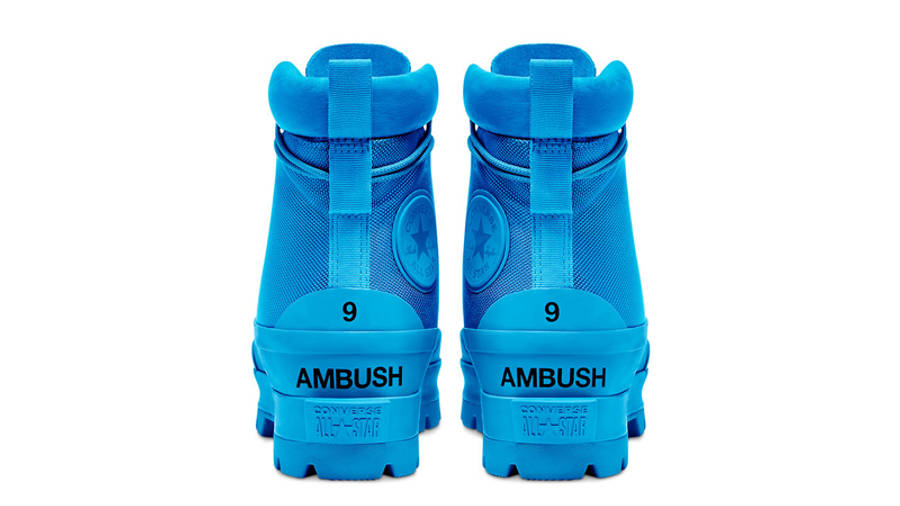 AMBUSH x Converse Chuck Taylor All Star Duck Boot Blue Back
