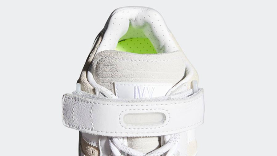 Beyonce Ivy Park x adidas Forum Low White Pink Closeup