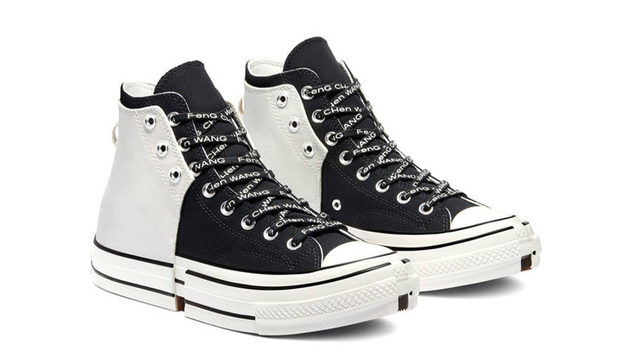 Feng Chen Wang x Converse Chuck 70 2-in-1 High Top Ivory Black Front