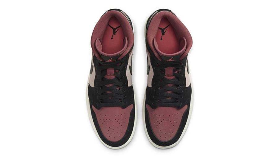 Jordan 1 Mid Burgundy Dusty Pink middle
