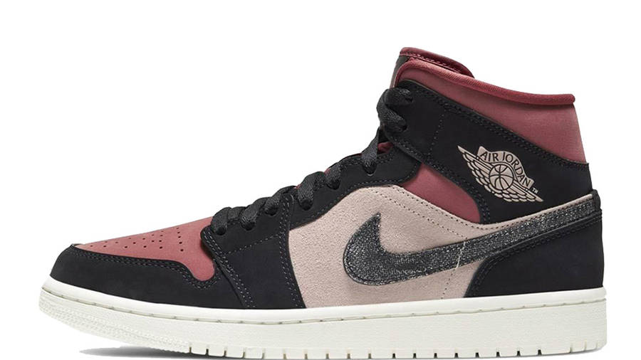 Jordan 1 Mid Burgundy Dusty Pink