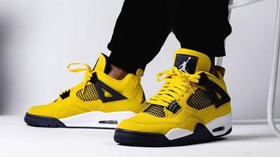 Jordan 4 Lightning on foot front
