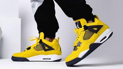 Jordan 4 Lightning on foot lifestyle