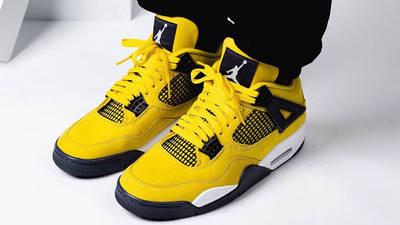 Jordan 4 Lightning on foot side