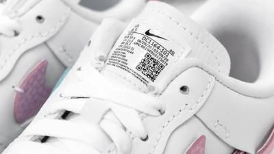 Nike Air Force 1 LXX White Pink Closeup