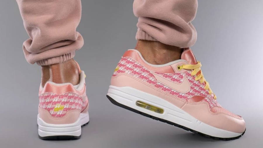 Nike Air Max 1 Strawberry Lemonade On Foot Back