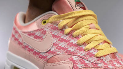 Nike Air Max 1 Strawberry Lemonade On Foot Closeup
