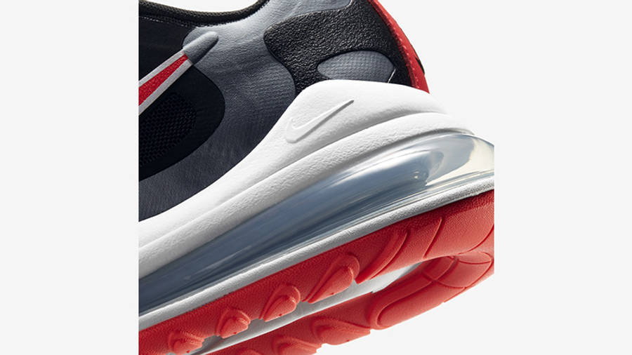 Nike Air Max 270 React Black Silver Red CT1646-001 back