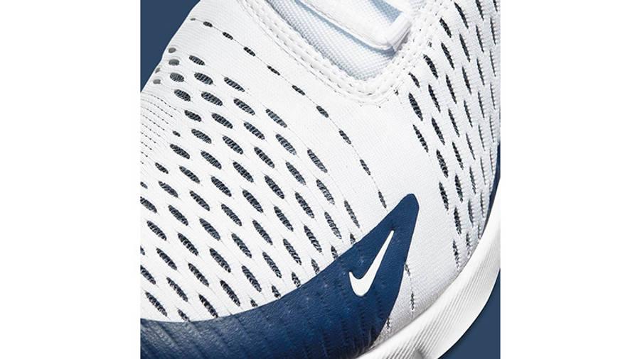 Nike Air Max 270 White Midnight Navy DH0613-100 closeup