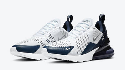 Nike Air Max 270 White Midnight Navy DH0613-100 front