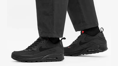 Nike Air Max 90 Surplus Black Infrared On Foot