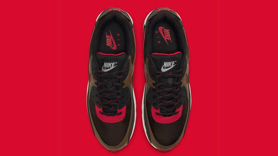 Nike Air Max 90 Velvet Brown University Red Middle