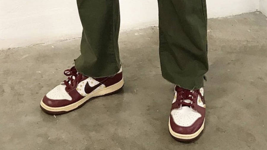 Nike SB Dunk Low Stars Barkroot Brown On Foot Front