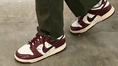 Nike SB Dunk Low Stars Barkroot Brown On Foot Side