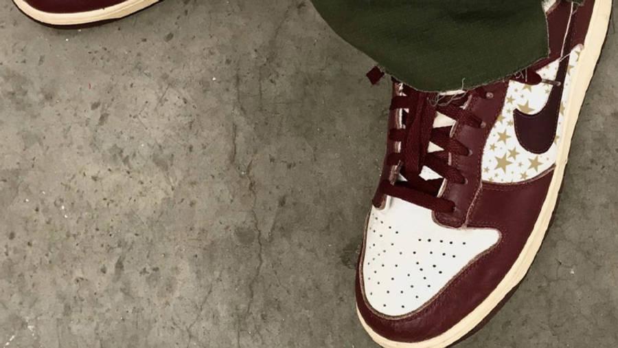 Nike SB Dunk Low Stars Barkroot Brown On Foot