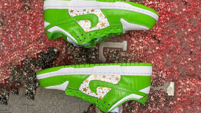 Nike SB Dunk Low Stars Mean Green First Look Top