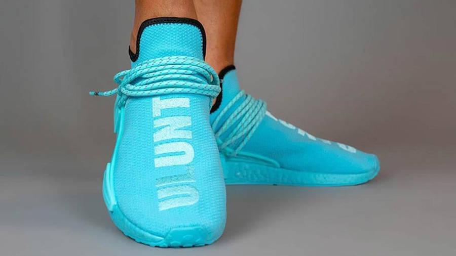 Pharrell Williams x adidas NMD Hu Blue GY0094 front
