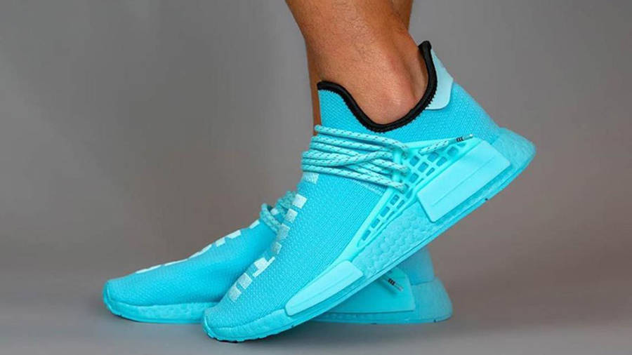 Pharrell Williams x adidas NMD Hu Blue GY0094 side