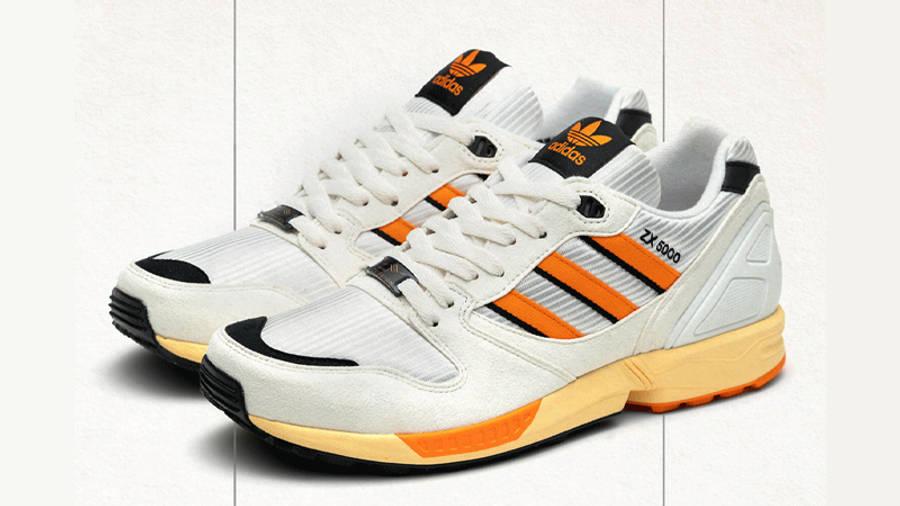 size x adidas ZX 5000 White Orange Front