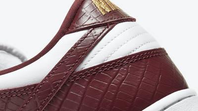 Supreme x Nike SB Dunk Low Stars Barkroot Brown Closeup